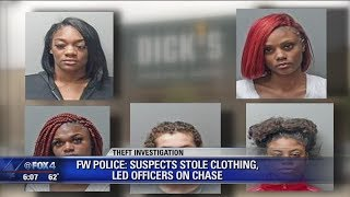 Shoplifting suspects lead police on high speed chase