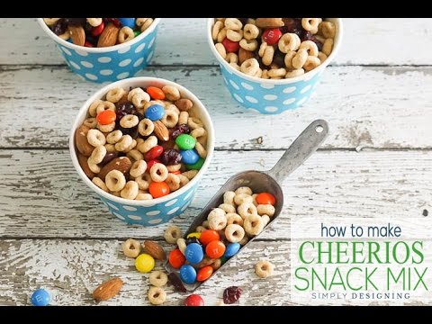 How to make cheerios snack mix in minutes youtube how to make cheerios snack mix in minutes ccuart Image collections