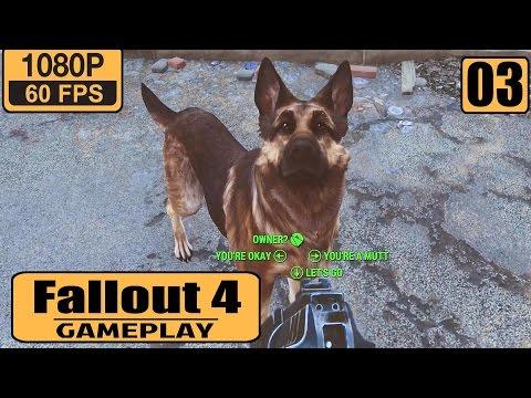 Fallout 4 gameplay walkthrough - Part 3 - Own German Shepherd Dog