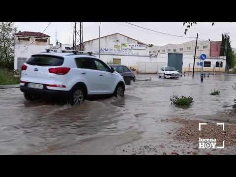 VÍDEO: La tormenta del domingo volvió a dejar  problemas en el entorno del río Lucena