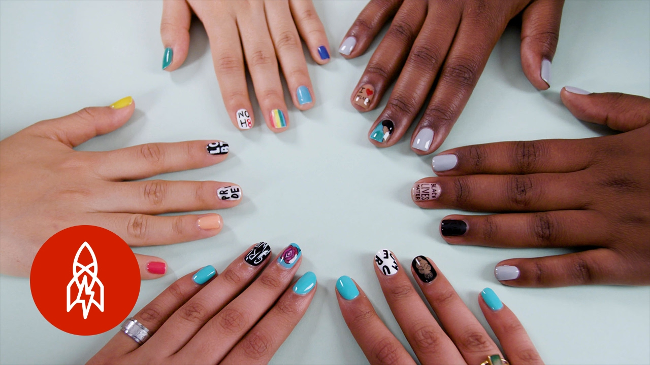 Sparking Conversation with Socially-Conscious Nail Art - YouTube