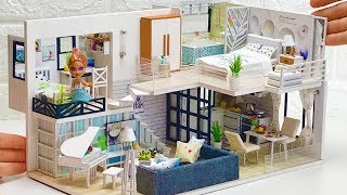6DIY Miniature Dollhouse Rooms 2Bedrooms Kitchen and more