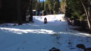 Sledding On The Wooden Sled...not Very Fast!