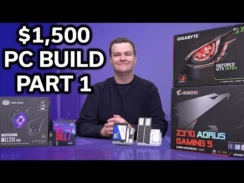 "$1,500 - i7-8700 ""Buick Build"" - GTX 1070 TI - Part 1 of 2"