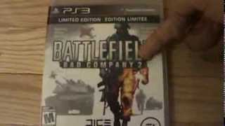 Unboxing (Abriendo) Battlefield Bad Company 2 Limited Edition PS3