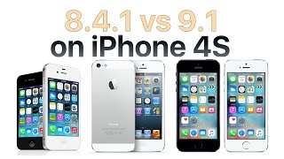 iPhone 4S iOS 9.1 vs iOS 8.4.1