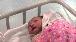 God-granddaughter Gabrilyn Chan Yan Xi on her first day