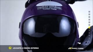 Como trocar a viseira do capacete  New Atomic