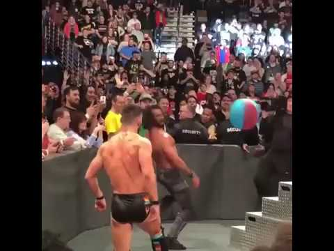 Rollins and Balor play with beachballs thumbnail