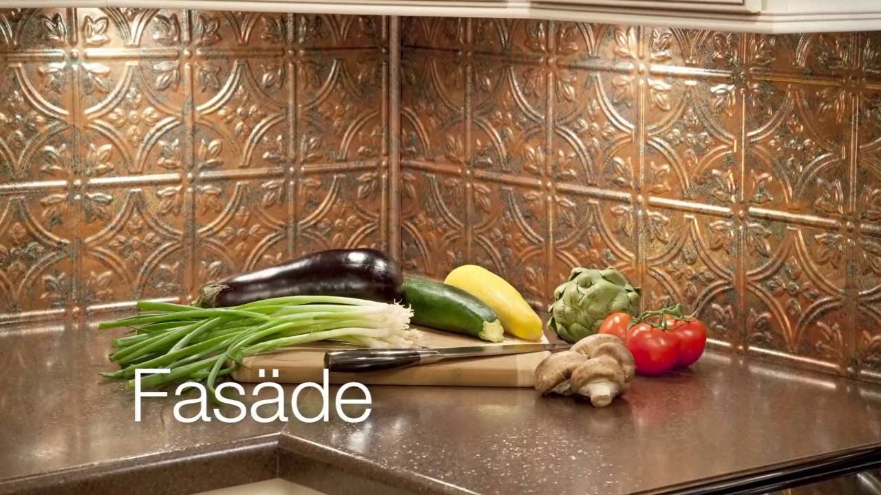 - Fasade Backsplash-Rib In Galvanized Steel