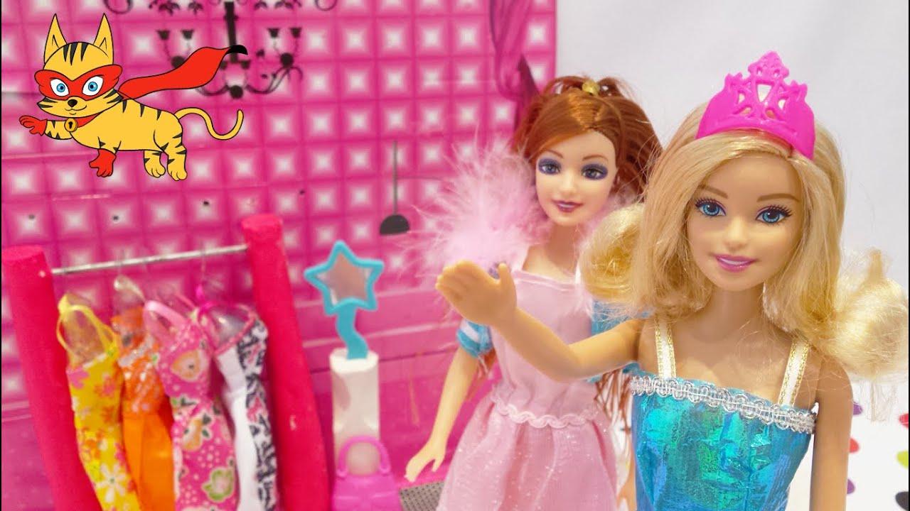 Juegos de vestir barbies] Barbie sale de fiesta con su amiga - YouTube