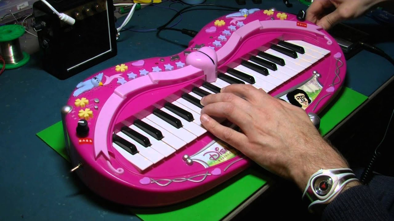 Circuit Bent Keyboard By Freeform Delusion Not Lossing Wiring Collection Of Circuitbent Toys Disney Princess Amazing Animal Blues Clues