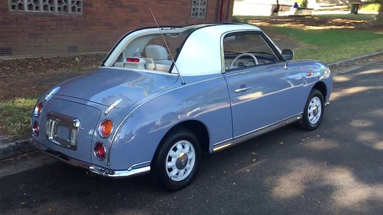 Nissan Figaro Lapis Grey Immaculate For Sale - YouTube