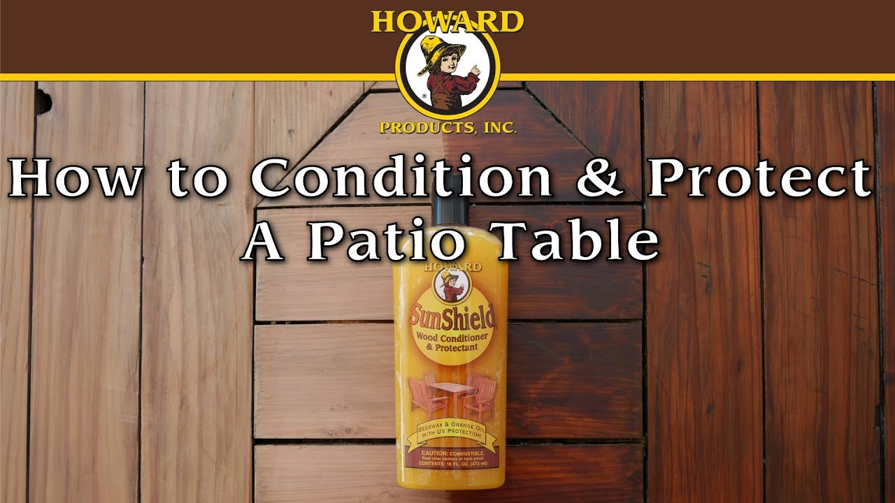 How To Condition U0026 Protect A Patio Table   YouTube