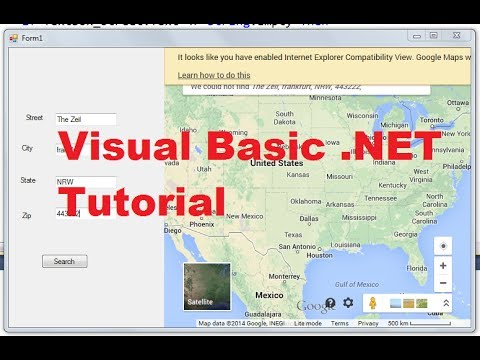 Visual Basic .NET Tutorial 52 - How to Display Google Maps in VB.NET ...