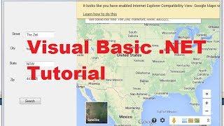 Visual Basic .NET Tutorial 52 - How to Display Google Maps in VB.NET