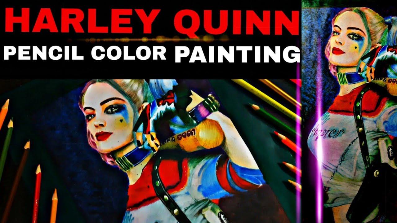 "Drawing - Suicide Squad""Harley Quinn""| PAINTING Harley Quinn -Birds of Prey|#sketchgalaxy #jokergirl"