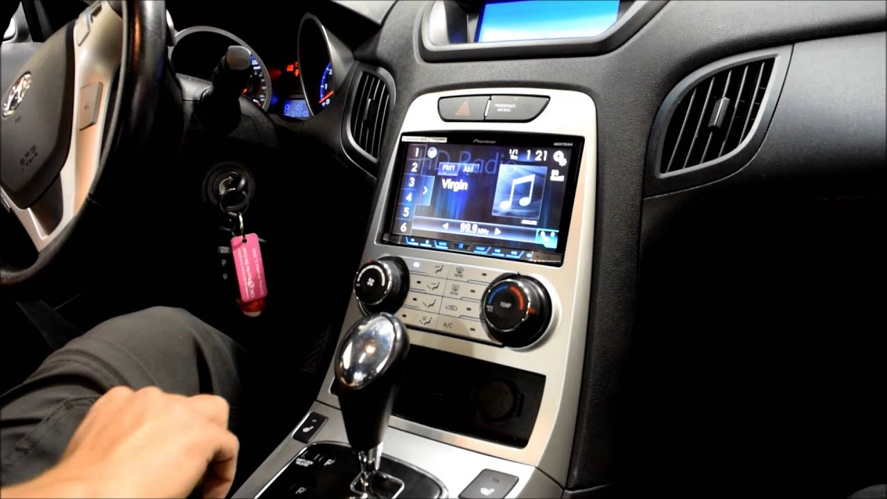 2010 hyundai genesis coupe car play pioneer avh 4100nex [ 1280 x 720 Pixel ]