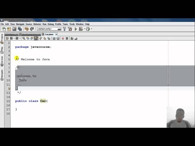 الدرس الثاني عشر : التعليقات Comments في Java