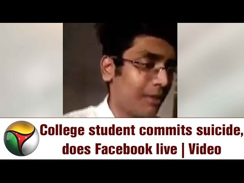 VISUALS | College Student commits Suicide in Facebook live