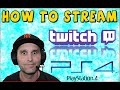 PS4 to Twitch - How To Broadcast Gameplay - Camera and Audio Settings