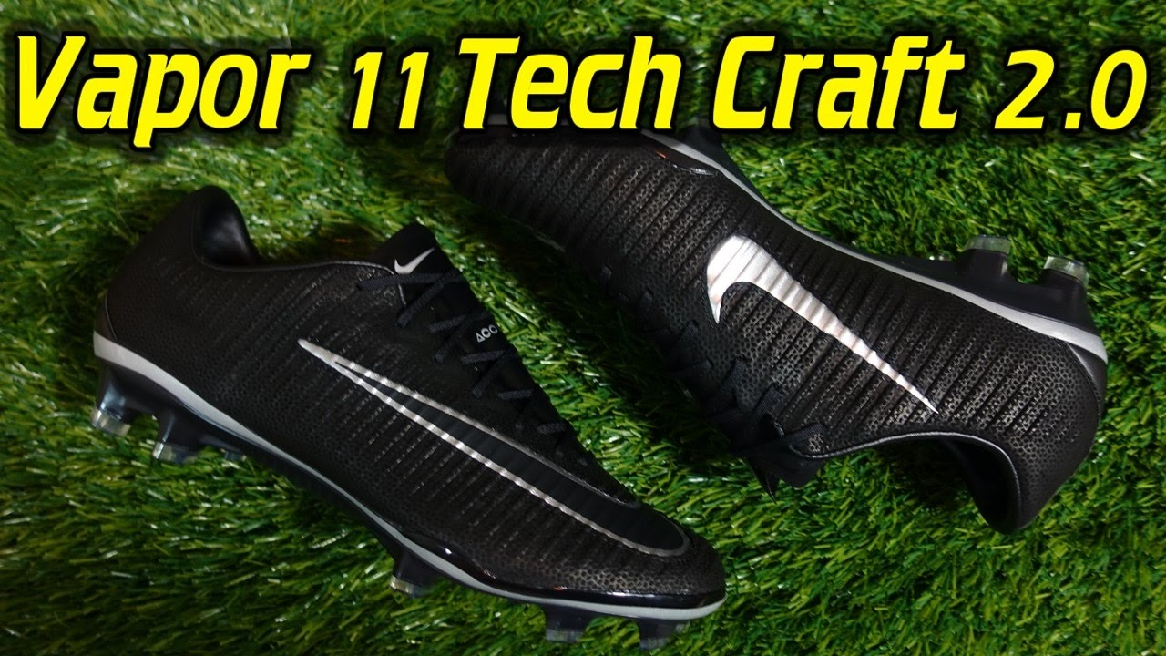 best website b990b 37324 Tech Craft 2.0 Nike Mercurial Vapor 11 (Black Metallic Silver) - Review +  On Feet