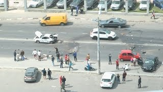 Жуткая авария в Одессе(Белый автомобиль