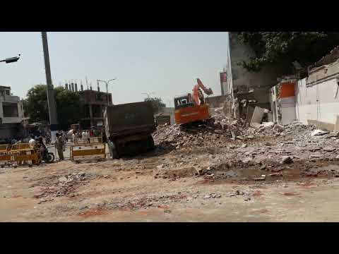 JDA on work at gopalpura bypass jaipur part-2 / Heavy police control/