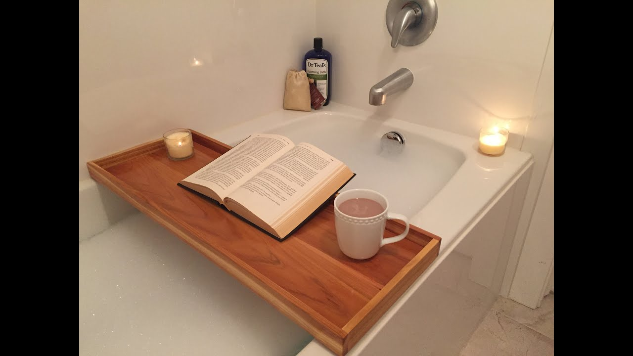 watch tray tub bathtub caddy build a youtube bath