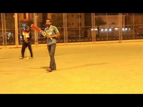 Cricket in hail Saudi Arabia(Arshad bowling )