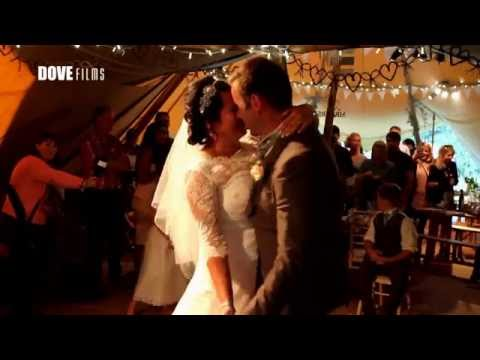 World Inspired Tents' summer tipi wedding by Dove Films