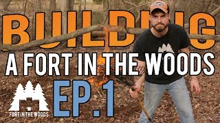 Ep. 1 Fort Building: Brush Burning and Picking a Site | I love this weird new tool! (FITW)