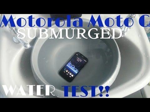 Motorola Moto G WATER TEST (SUBMERGED)