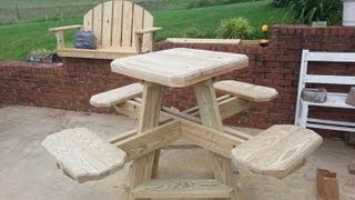 Bar Stool Picnic Table Build Part 2.