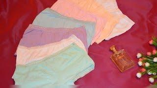 Распаковываем женские трусики - шортики. 7 шт/уп. Смотрим видео-обзор