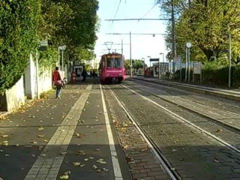 "Trams Of Bonn, Germany. Route 66 ""Telecom Express""."