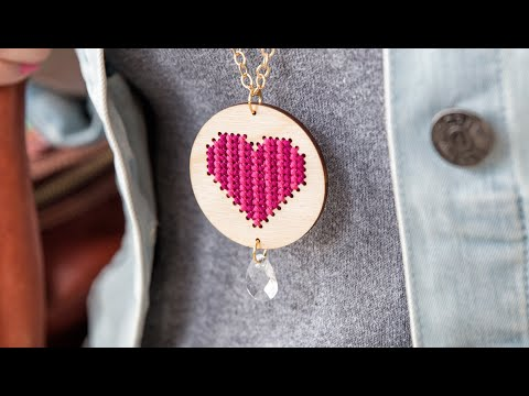 DIY Valentine Necklace | Sewing Craft | Apostrophe S | Sew Much Love