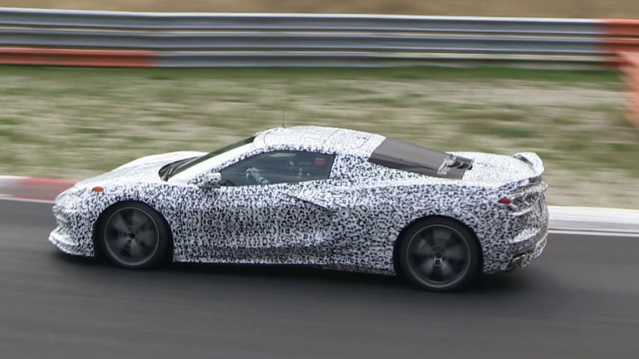 Mid Engined Chevrolet Corvette C8 Pushed Hard At The Nurburgring