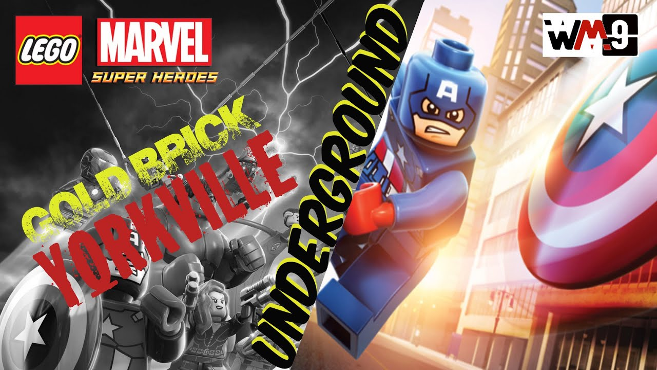 marvel lego yorkville gold brick