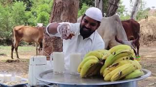 Delicious Banana Milkshake || Orphan Oldage Home | Nawabs kitchen
