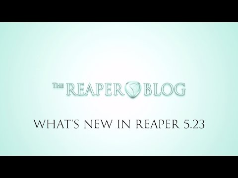 What's new in REAPER 5.23 update | visual metronome; relative paths; MusicXML Import