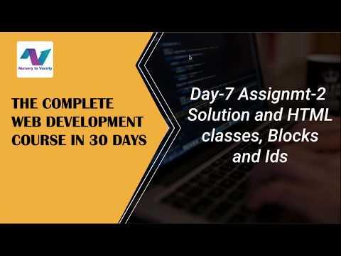 HTML : Blocks, Classes And IDs | Html Classes | Html Blocks | Html Ids | Web Development Tutorial