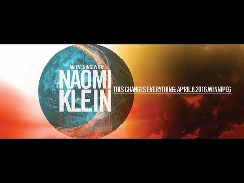 An evening with Naomi Klein in Winnipeg