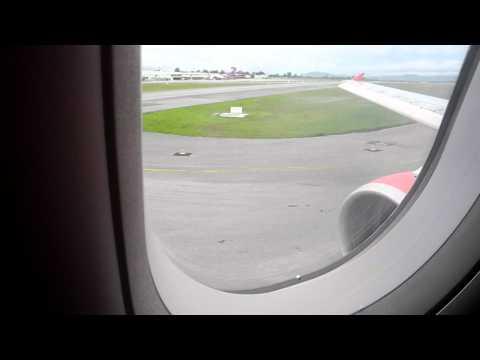 Thai Air Asia, Airbus A320, Landing in Hat Yai International Airport