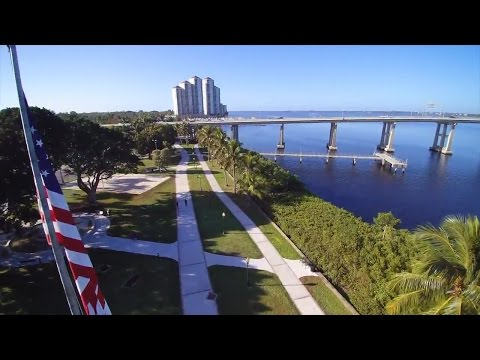Downtown Fort Myers Florida/Amazing Drone Flight