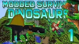 Minecraft: Modded Dinosaur Survival Let