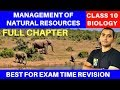 MANAGEMENT OF NATURAL RESOURCES | CLASS 10 (FULL CHAPTER)