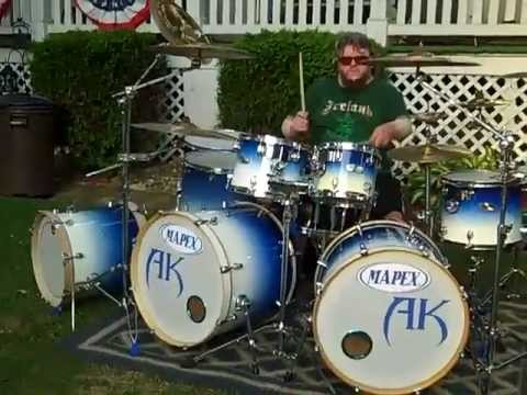 Mapex Triple Bass Drum Kit