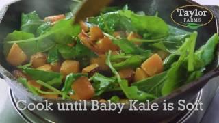 Butternut Squash &amp Baby Kale Breakfast Skillet