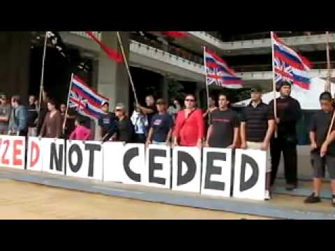 Hawaiian Independence Action Alliance Demonstrates at the Hawaii State Capitol   YouTube